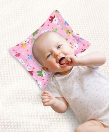 Babyhug Rectangle Pillow Rabbit Print - Pink