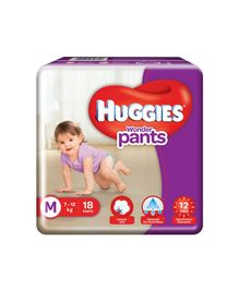 Huggies Wonder Pants Medium Size Diapers - 18 Pieces