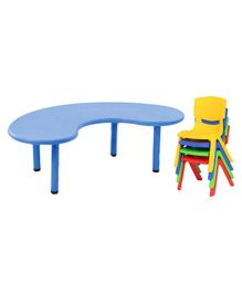 Yoto Front Round Table & Chair Set - Multi Color