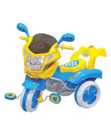 Funride Musical Tricycle With LED Light - Blue Yellow