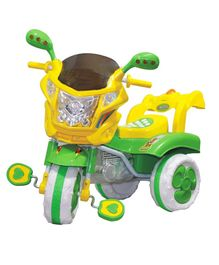 Funride Musical Tricycle With LED Light - Green Yellow