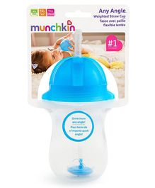 Munchkin Angle Weighted Straw Cup Blue - 296 ml