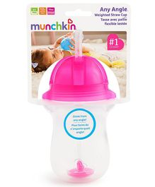 Munchkin Angle Weighted Straw Cup Pink - 296 ml