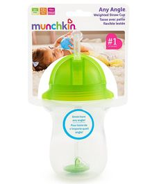 Munchkin Angle Weighted Straw Cup Green - 296 ml