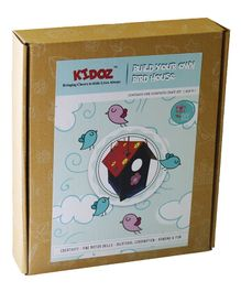 Kidoz DIY Build Your Own Bird House Craft Kit - Brown