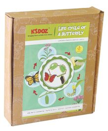 Kidoz Life Cycle of A Butterfly Pack of 4 Cut Outs - Multicolour