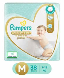 Pampers Premium Care Pant Style Diapers Medium Size - 38 Pieces