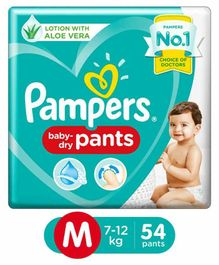 Pampers Pant Style Diapers Medium Size - 54 Pieces