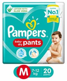 Pampers Pant Style Diapers Medium Size - 20 Pieces