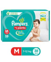Pampers Pant Style Diapers Medium Size - 38 Pieces