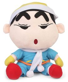 Shin Chan Soft Toy With Cap Blue - Height 35 cm