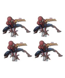 Party Anthem Spider Man Wall Sticker Pack of 4 - Red Blue