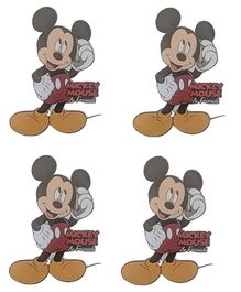 Party Anthem Disney's Mickey Mouse Wall Sticker - Pack of 4