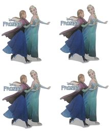 Party Anthem Disney's Elsa and Anna Frozen Wall Stickers Multicolour - Pack of 4