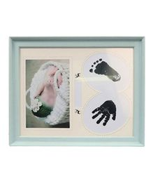 Passion Petals Baby Hand & Foot Print Kit With Frame - Blue
