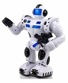 Planet of Toys Battery Operated Super Robot - White