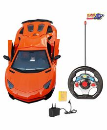 Planet of Toys Remote Control Sports Racer Car - Orange