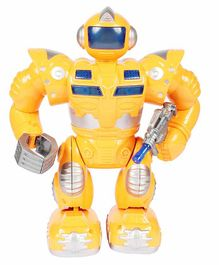 Planet of Toys Battery Operated Robot - Yellow