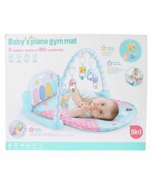 Planet of Toys 5 in 1 Baby Piano Gym Mat - Blue