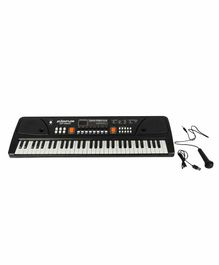Planet of Toys Electronic Keyboard - Black & White