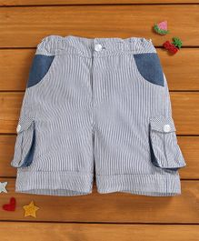 Murphy Mouse Striped Shorts - Blue