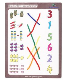 Little Genius Wooden Match The Column Subtraction - Purple