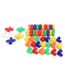 Little Genius Pipe Link Set Multicolour - 45 Pieces