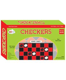 Art Factory Checkers Board Game - Multicolour