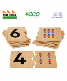 Eduedge Wooden Numeral - Quantity Matching  Educational Toy - Multicolor