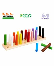 Eduedge Wooden Colour Pairing Pegs - Multi Color