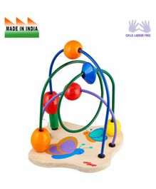 Eduedge Wooden Butterfly Maze Chase Educational Toy - Multicolor