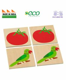 Eduedge Wooden Picture Pairing Educational Toy - Multicolor