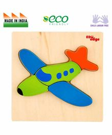 Eduedge Airplane Board Puzzle - Green Blue