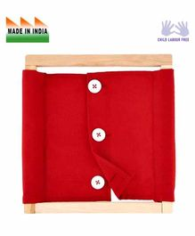 Eduedge Wooden Large Buttons Frame - Red