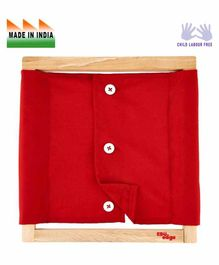 Eduedge Wooden Small Buttons Frame - Red