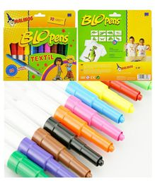 Toys Bhoomi Malinos Magic Textile Pen Pack of 10 - Multi Colour