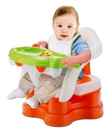 Toys Bhoomi 4 in 1 Sit Snack & Go Convertible Booster - Green & Orange