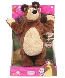 Masha & The Bear Musical Soft Toy Brown - Height 33 cm