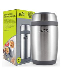 Home Puff Double Wall Vacuum Insulated Stainless Steel Food Jar Grey - 580 ml