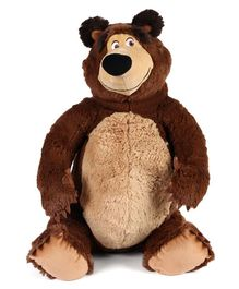 Masha & The Bear Plush Soft Toy Brown - Height 50 cm