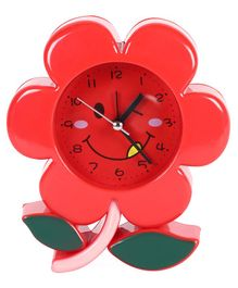 Flower Shaped Clock - Red