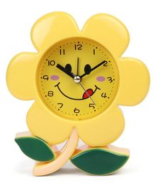 Flower Shaped Clock - Yellow