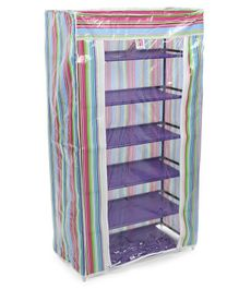 Striped Storage Rack 6 Shelves - Multi Color