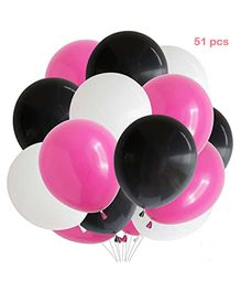 Balloon Junction Metallic Balloons Pack of 50 - Pink Black & White