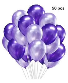 Balloon Junction Metallic Balloons Pack of 50 - Purple &  Silver