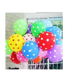 Balloon Junction Balloons Polka Dots Pack of 50 - Multi color
