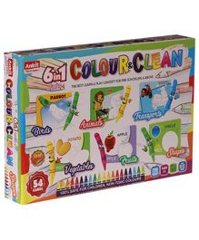 NHRAnkit Toys 6 in 1 Colour & Clean Game - 54 Cards