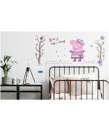 Asian Paints Wall Ons Peppa Pig Autumn Fun Removable Wall Sticker - XL
