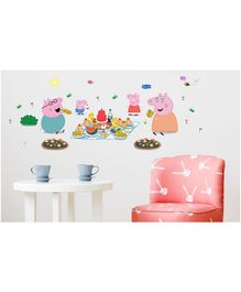 Asian Paints Wall Ons Peppa PigFamily Picnic Removable Wall Sticker -  XL