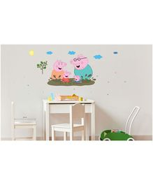 Asian Paints Peel & Stick Peppa Pig Wall Sticker Pack of 4 Pieces Multicolour - XXL
